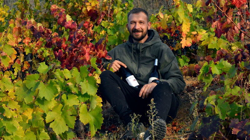 José David Arial de la Bodega Familia Arias Vidal Viticultores