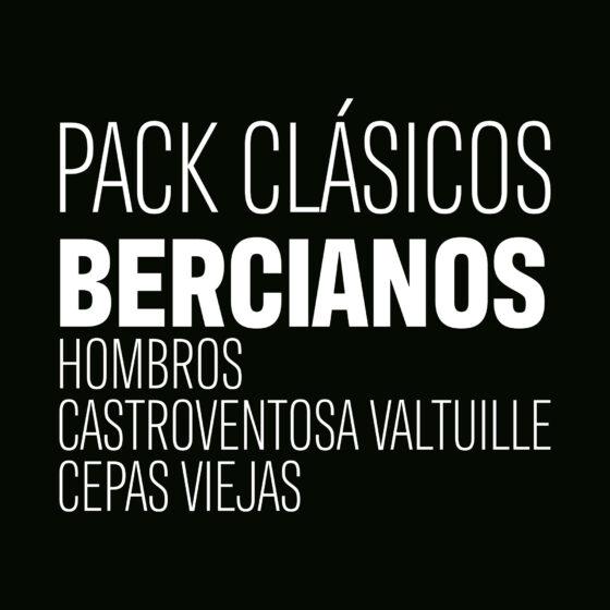 Pack Clásicos Bercianos, con Hombros de Casar de Burbia, Castro Ventosa Valtuille y Cepas Viejas de Dominio de Tares